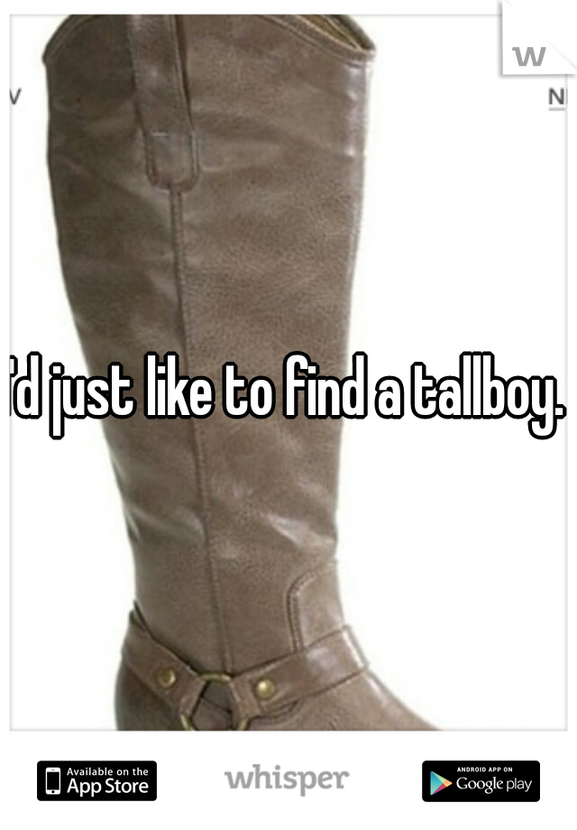 I'd just like to find a tallboy.