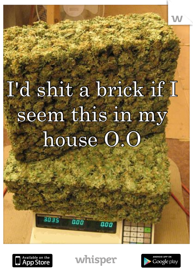 I'd shit a brick if I seem this in my house O.O