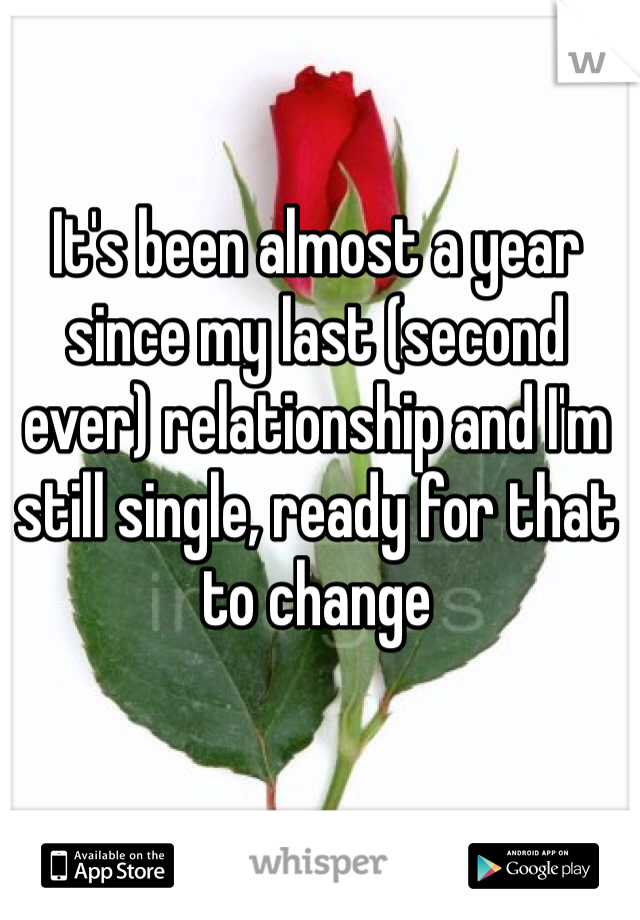 It's been almost a year since my last (second ever) relationship and I'm still single, ready for that to change