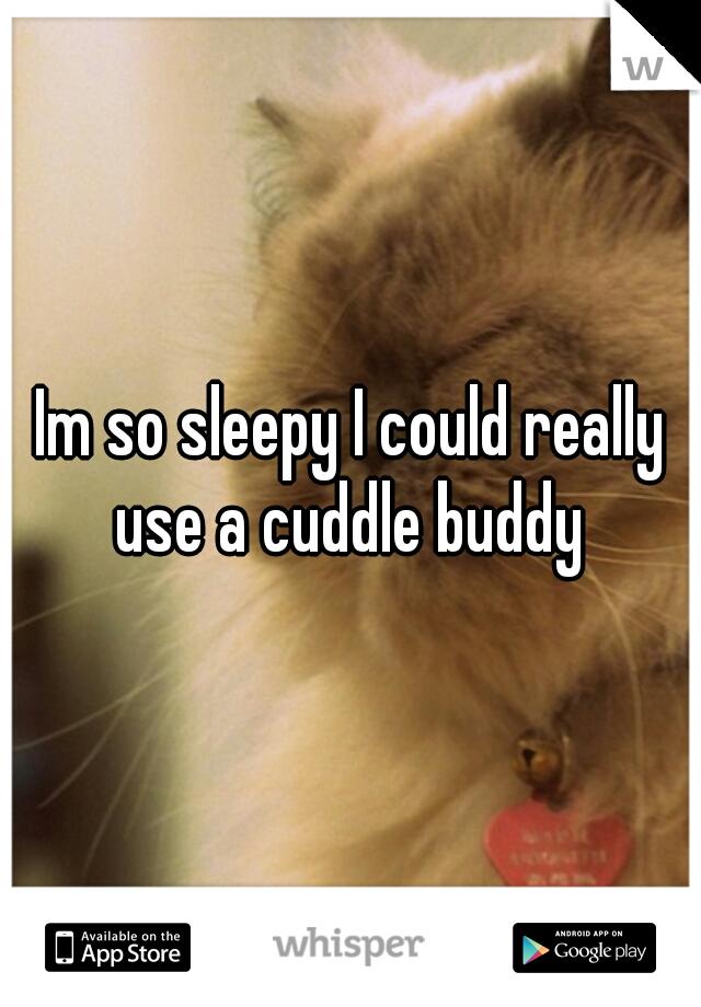Im so sleepy I could really use a cuddle buddy
