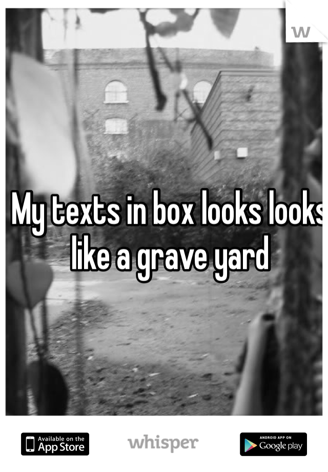 My texts in box looks looks  like a grave yard