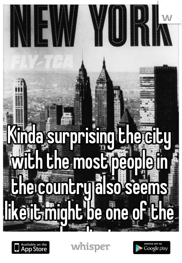 Kinda surprising the city with the most people in the country also seems like it might be one of the loneliest.