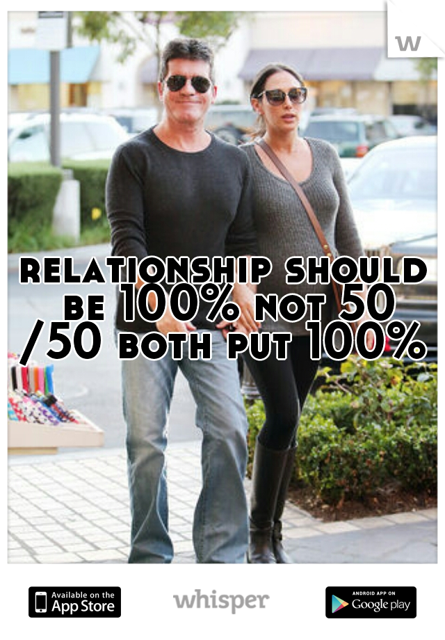 relationship should be 100% not 50 /50 both put 100%