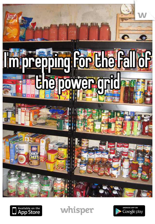 I'm prepping for the fall of the power grid
