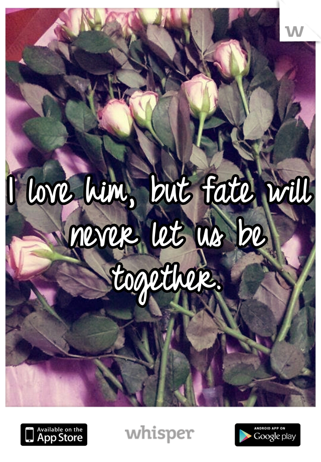 I love him, but fate will never let us be together.