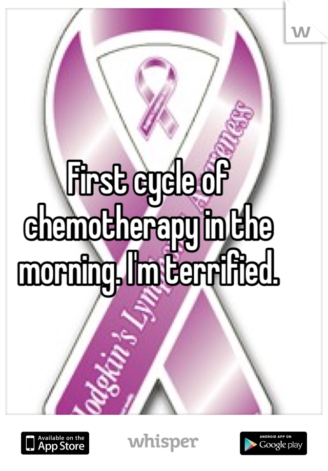 First cycle of chemotherapy in the morning. I'm terrified.
