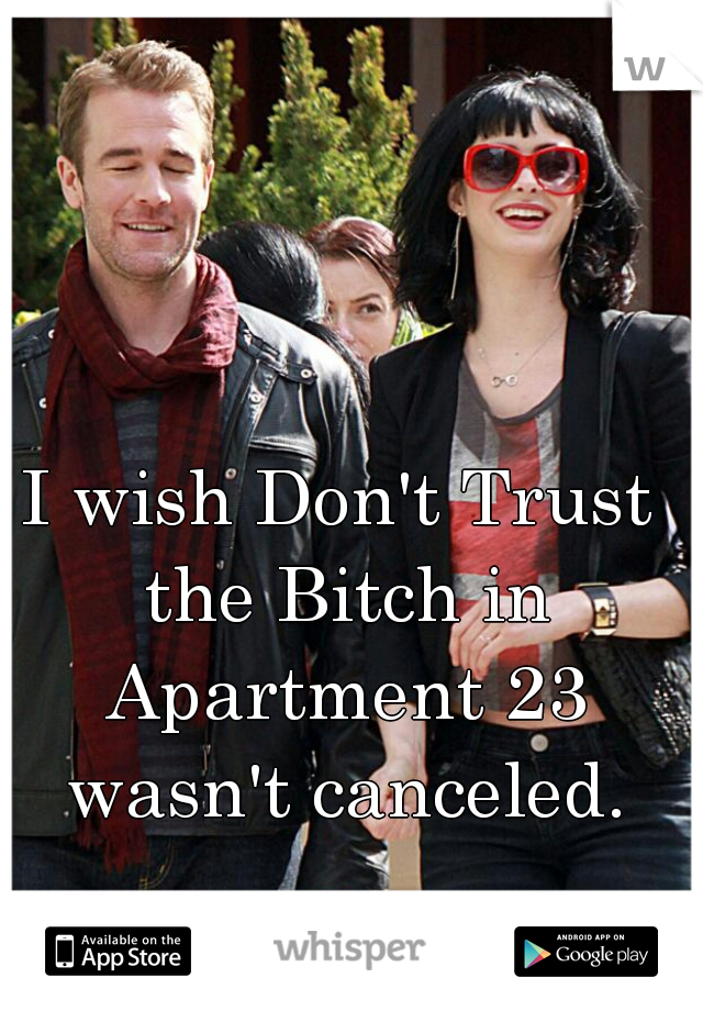 I wish Don't Trust the Bitch in Apartment 23 wasn't canceled.