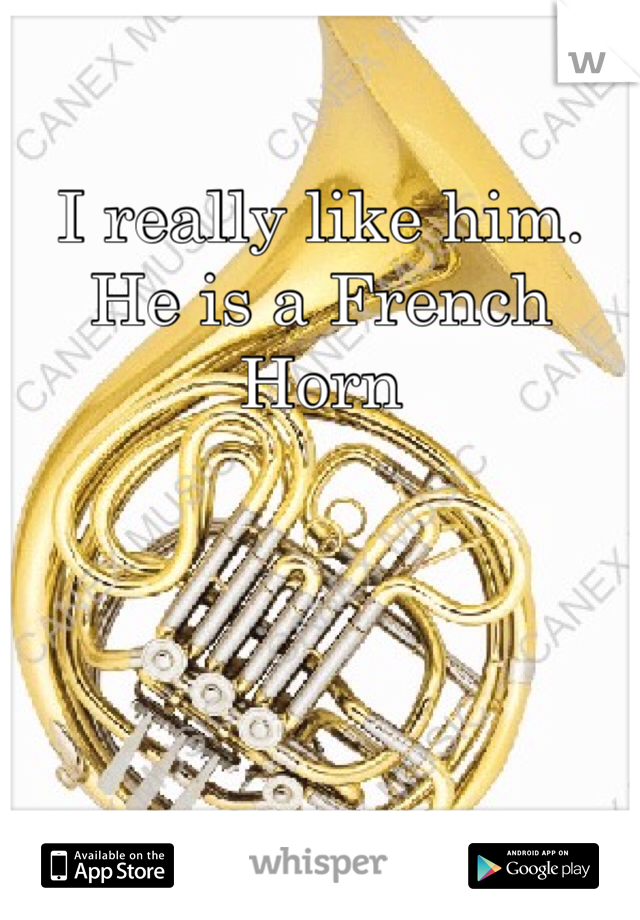 I really like him. He is a French Horn