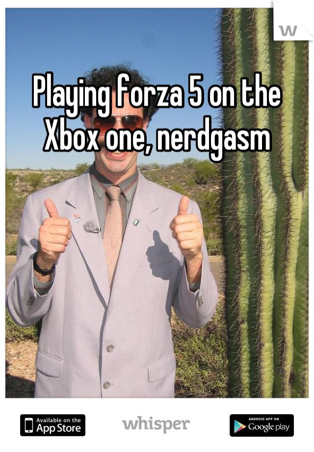 Playing forza 5 on the Xbox one, nerdgasm
