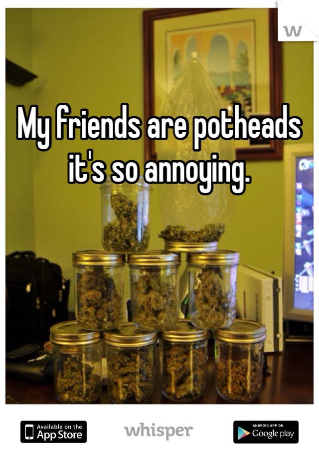 My friends are potheads it's so annoying.