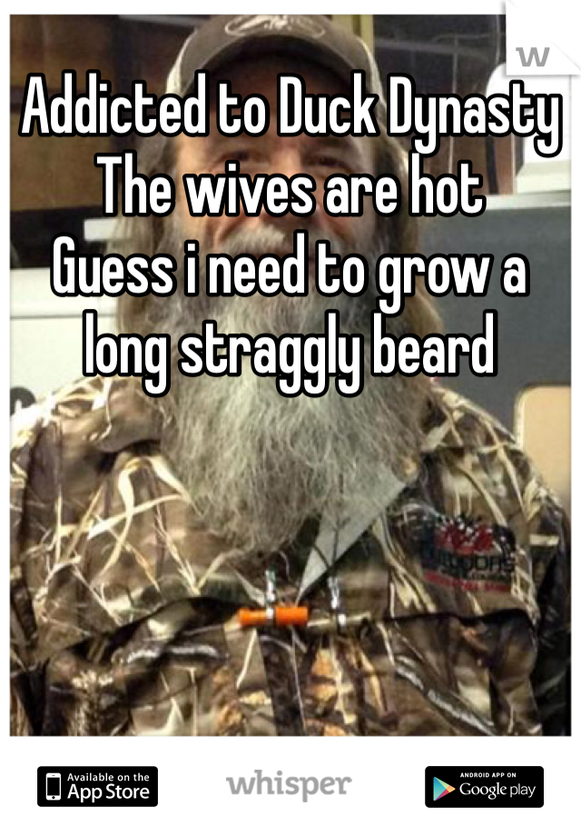 Addicted to Duck Dynasty The wives are hot Guess i need to grow a long straggly beard