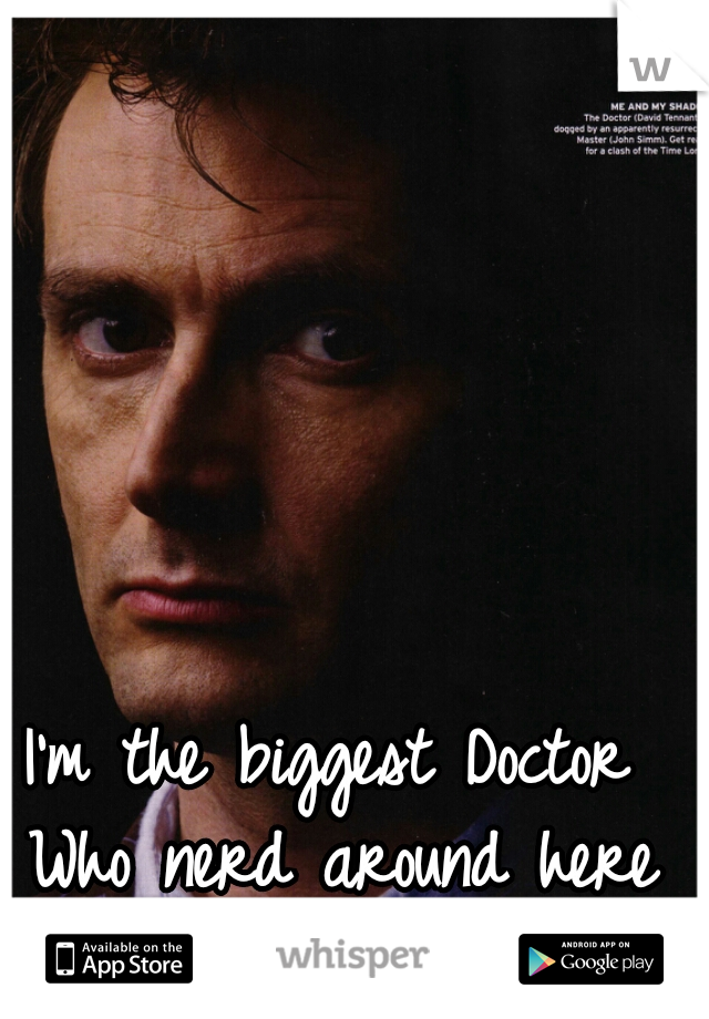 I'm the biggest Doctor Who nerd around here and guys don't like it