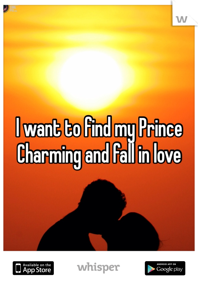 I want to find my Prince Charming and fall in love