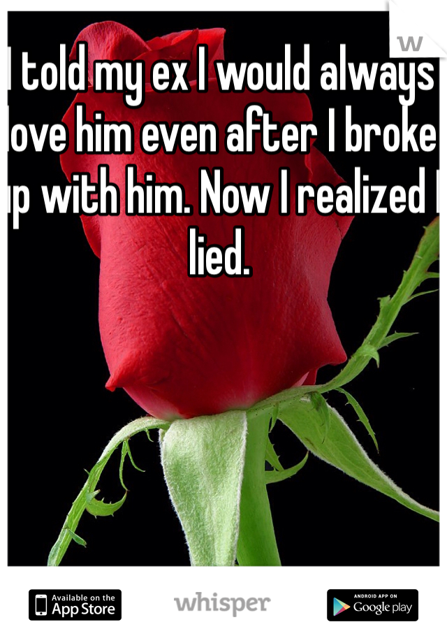 I told my ex I would always love him even after I broke up with him. Now I realized I lied.