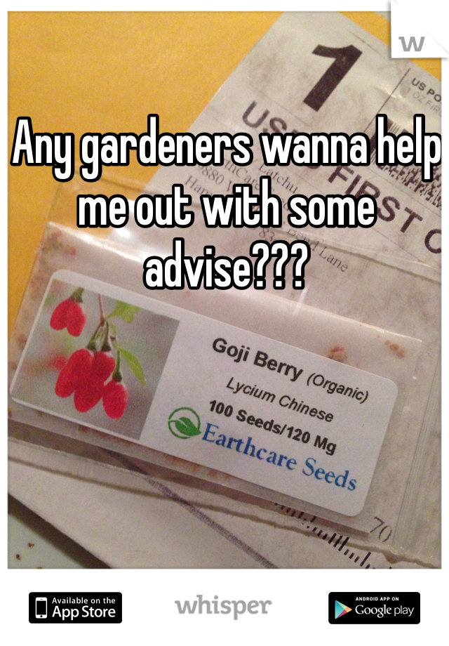 Any gardeners wanna help me out with some advise???