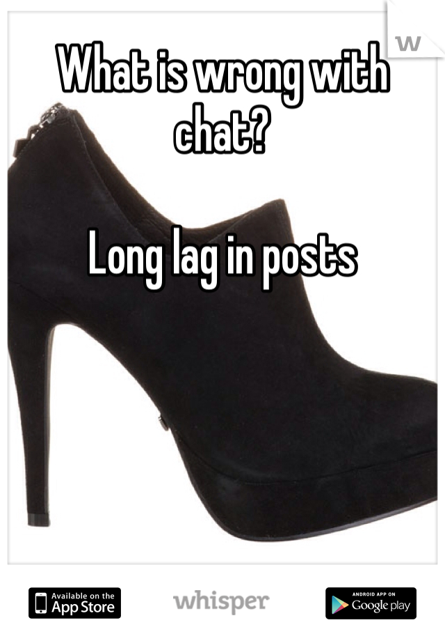 What is wrong with chat?  Long lag in posts