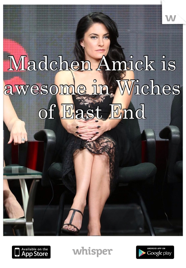Madchen Amick is awesome in Wiches of East End