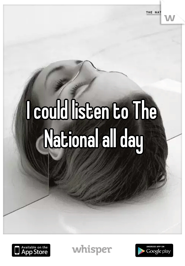 I could listen to The National all day