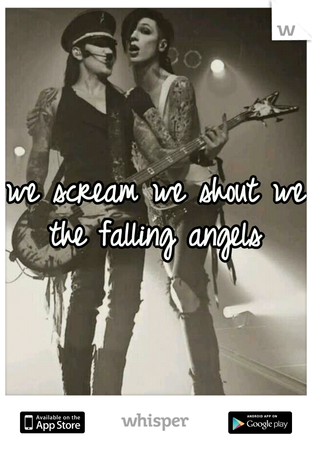 we scream we shout we the falling angels