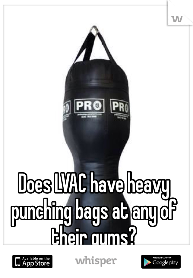 Does LVAC have heavy punching bags at any of their gyms?