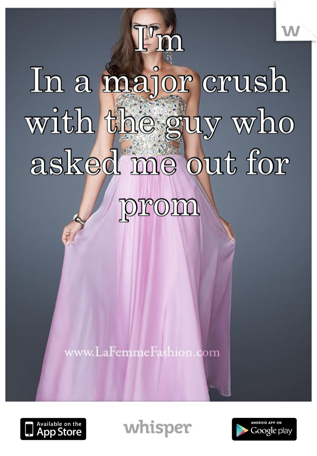 I'm In a major crush with the guy who asked me out for prom