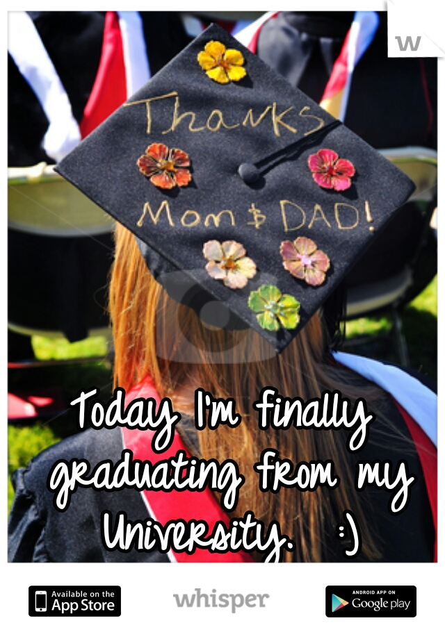 Today I'm finally graduating from my University.  :)