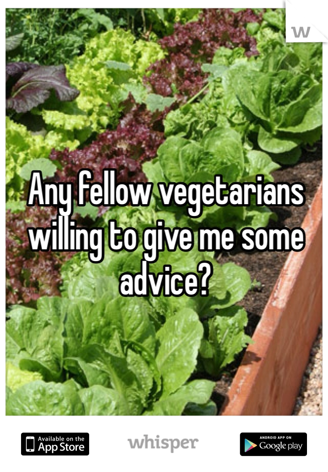 Any fellow vegetarians willing to give me some advice?