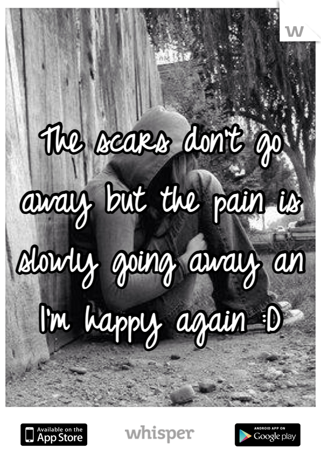 The scars don't go away but the pain is slowly going away an I'm happy again :D