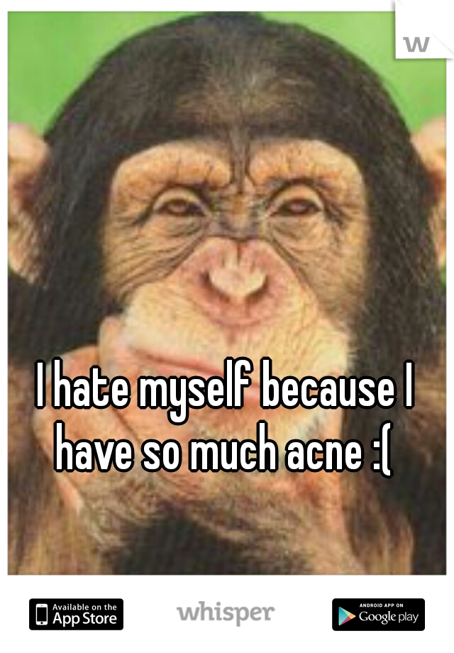I hate myself because I have so much acne :(
