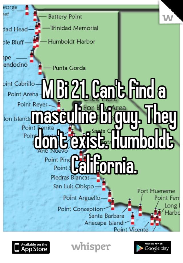 M Bi 21. Can't find a masculine bi guy. They don't exist. Humboldt California.