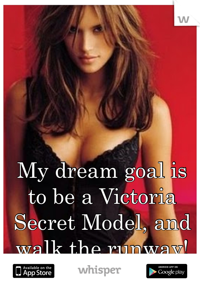 My dream goal is to be a Victoria Secret Model, and walk the runway!