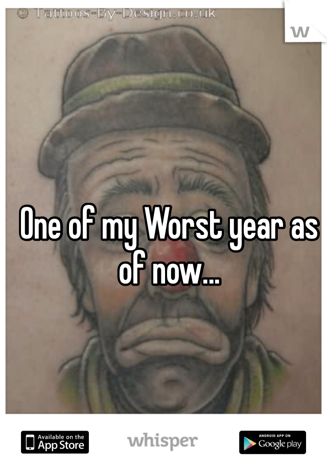 One of my Worst year as of now...