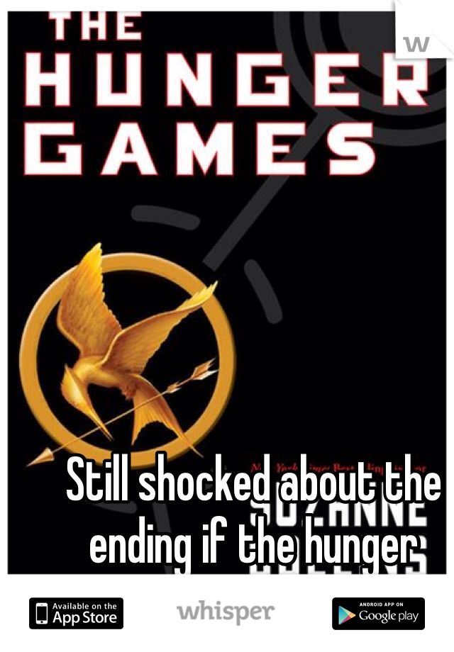 Still shocked about the ending if the hunger games trilogy, omg!!!