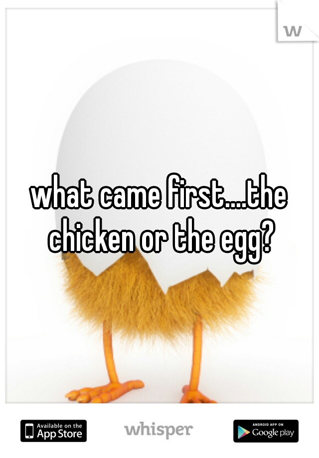 what came first....the chicken or the egg?