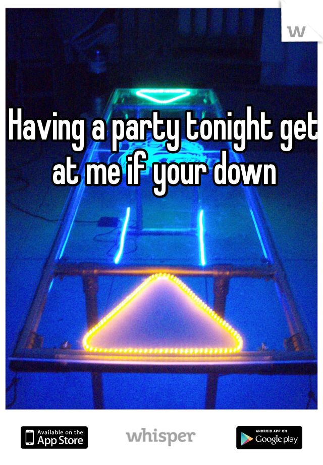 Having a party tonight get at me if your down
