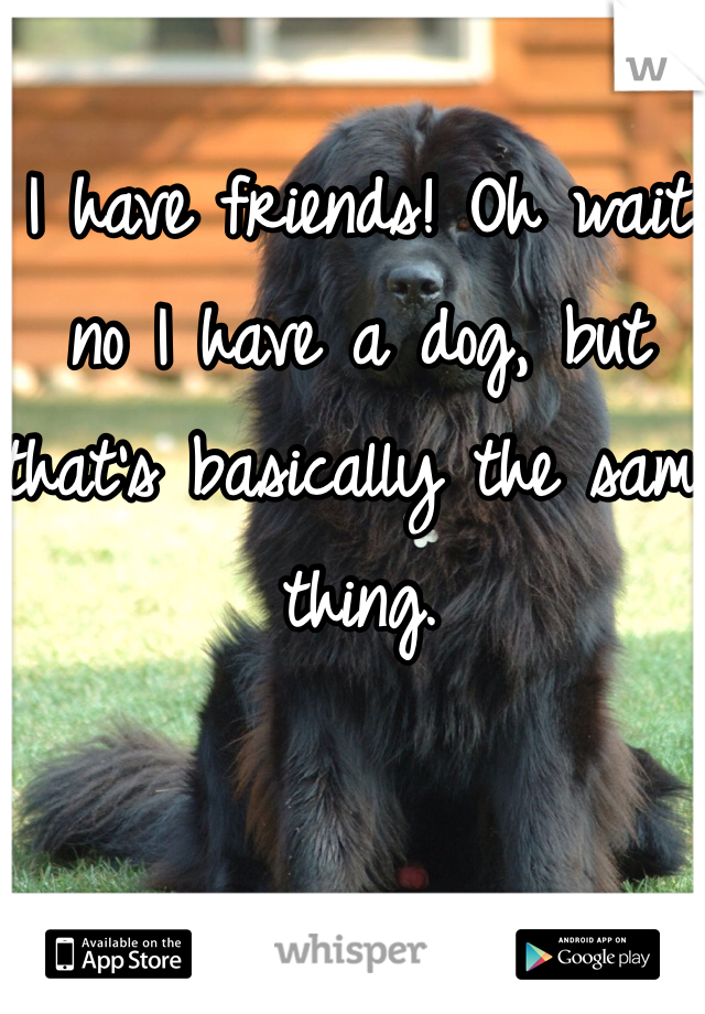 I have friends! Oh wait no I have a dog, but that's basically the same thing.