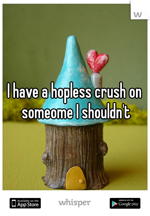 I have a hopless crush on someome I shouldn't