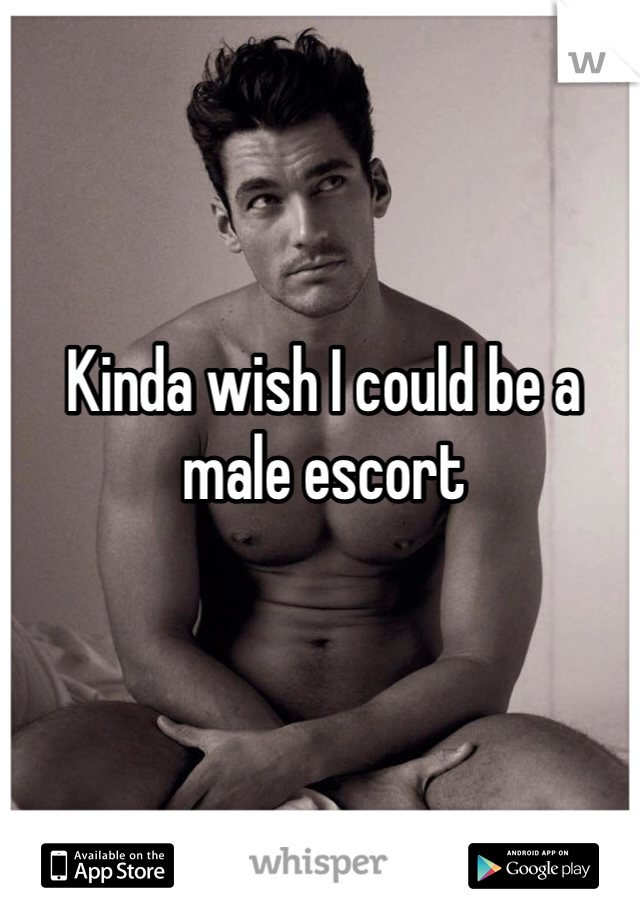 Kinda wish I could be a male escort