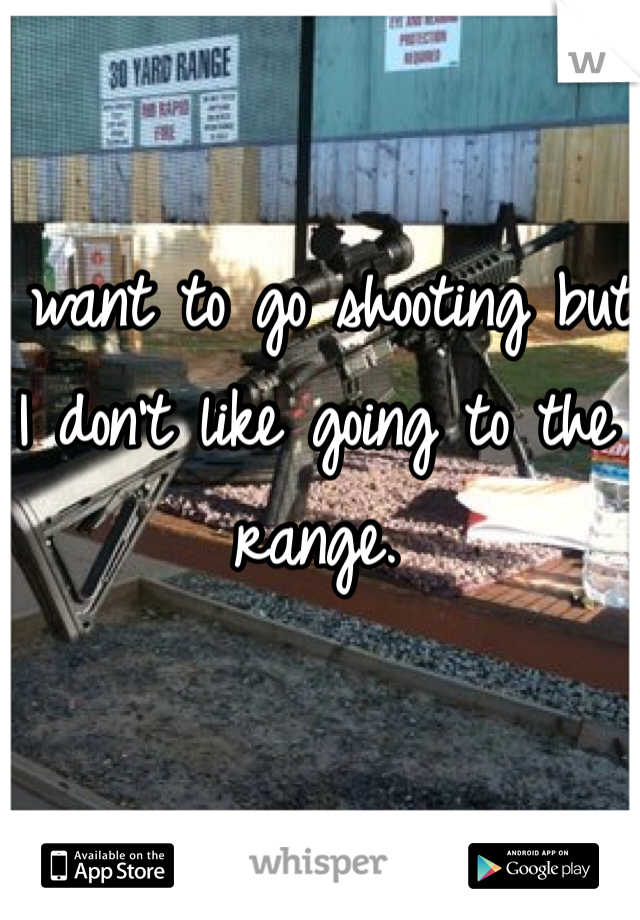 I want to go shooting but I don't like going to the range.