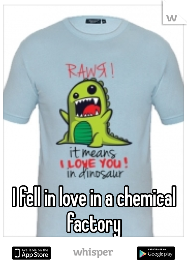 I fell in love in a chemical factory