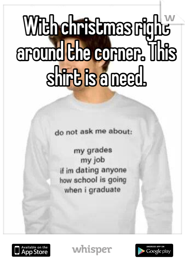 With christmas right around the corner. This shirt is a need.