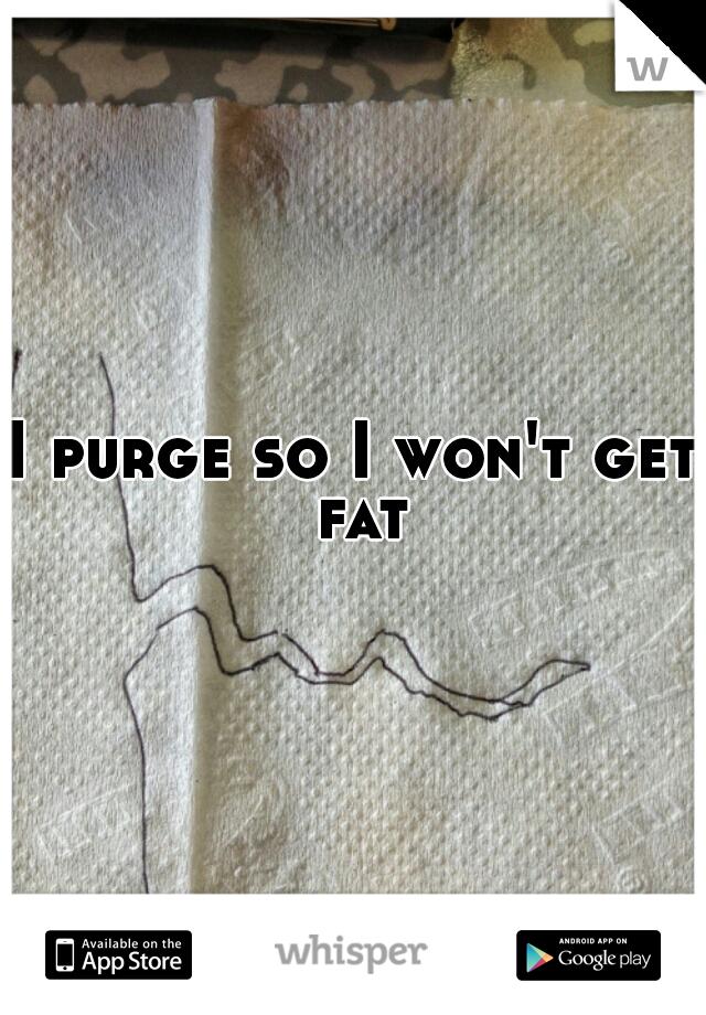 I purge so I won't get fat