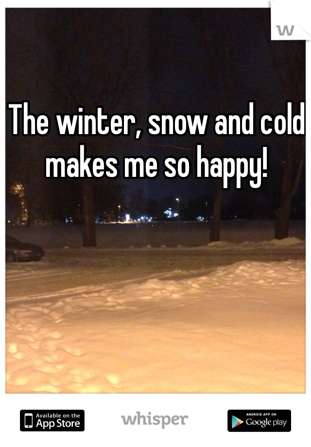 The winter, snow and cold makes me so happy!