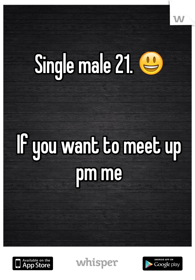 Single male 21. 😃   If you want to meet up pm me