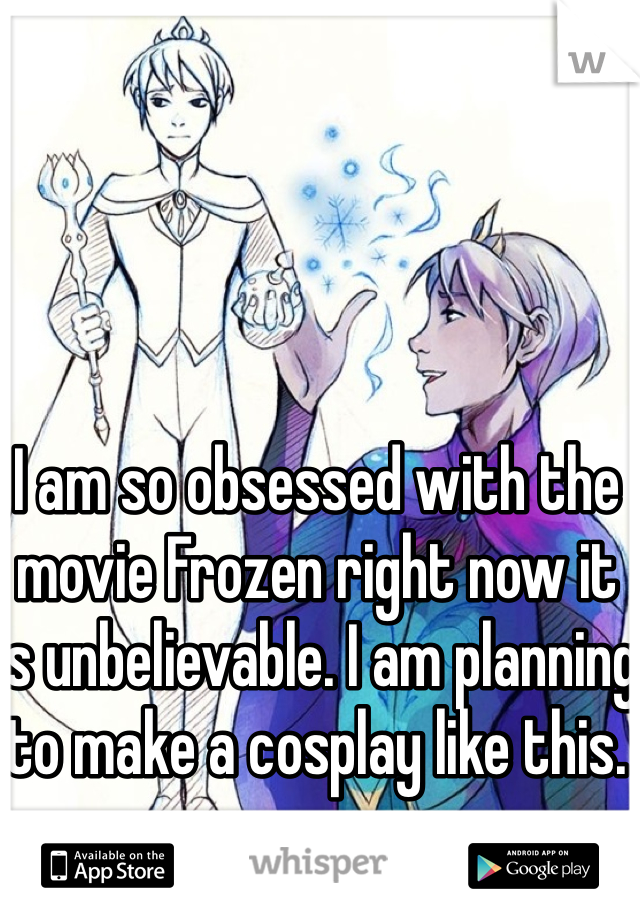 I am so obsessed with the movie Frozen right now it is unbelievable. I am planning to make a cosplay like this.