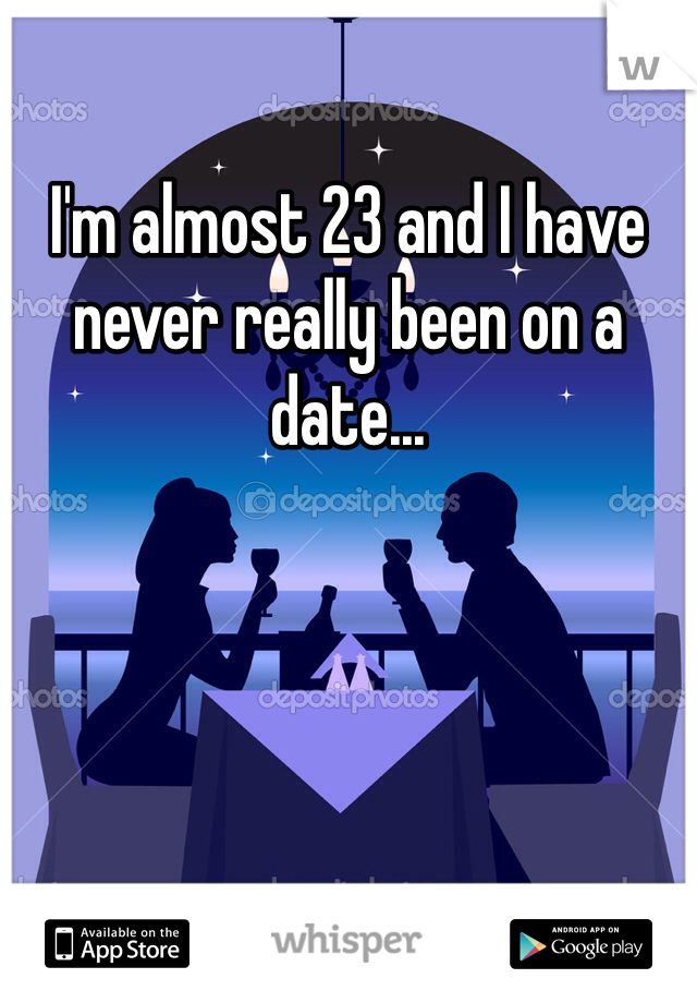 I'm almost 23 and I have never really been on a date...