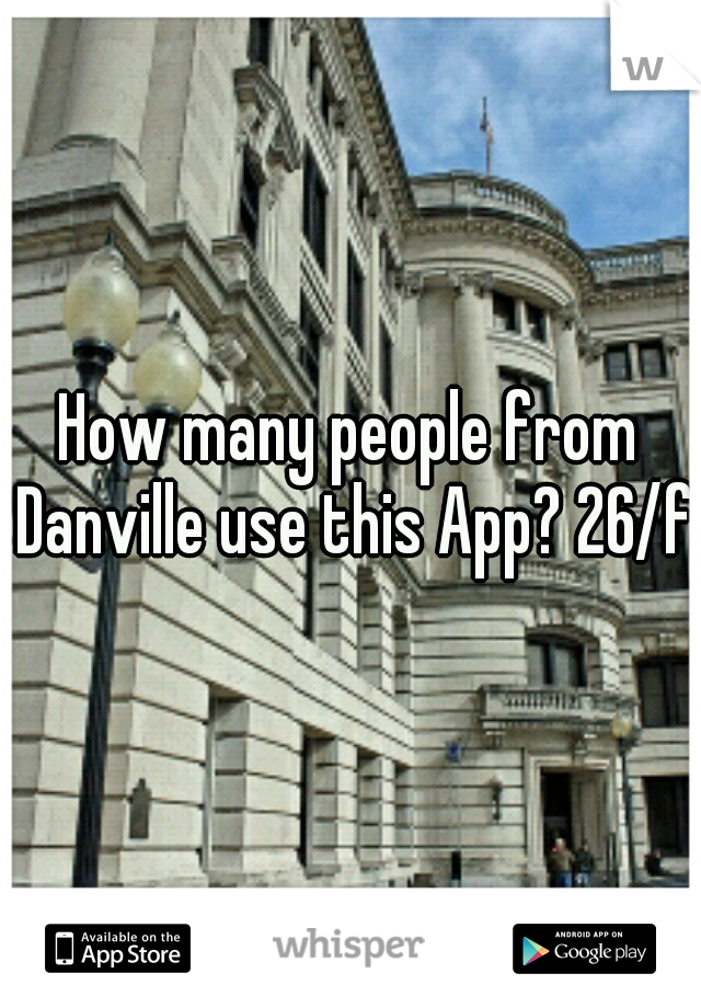 How many people from Danville use this App? 26/f