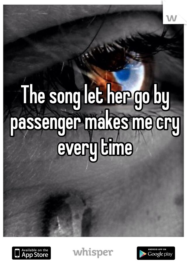 The song let her go by passenger makes me cry every time