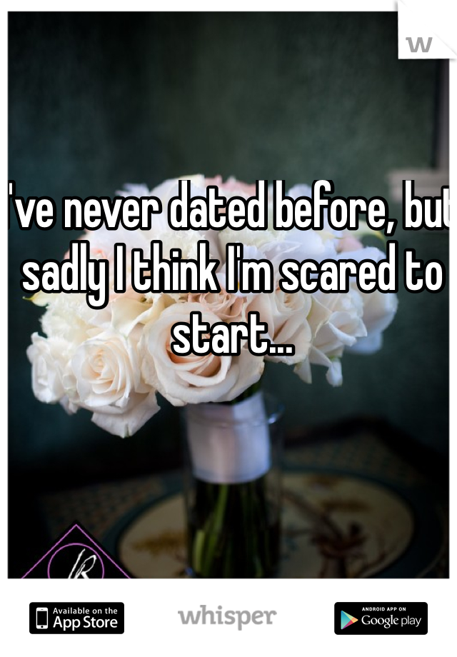 I've never dated before, but sadly I think I'm scared to start...