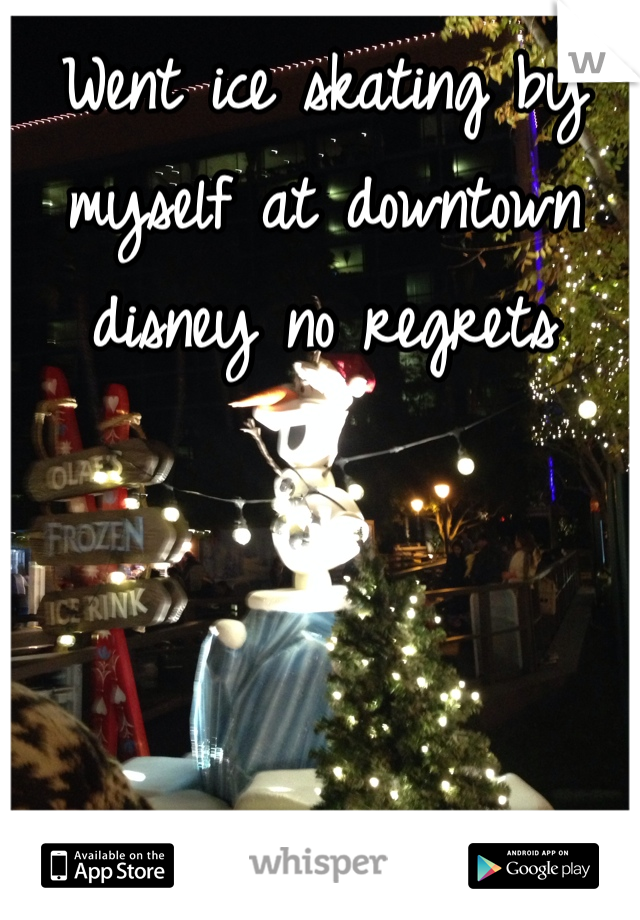 Went ice skating by myself at downtown disney no regrets